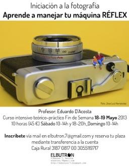 Aprende a manejar tu cámara REFLEX_Taller 18-19 Mayo