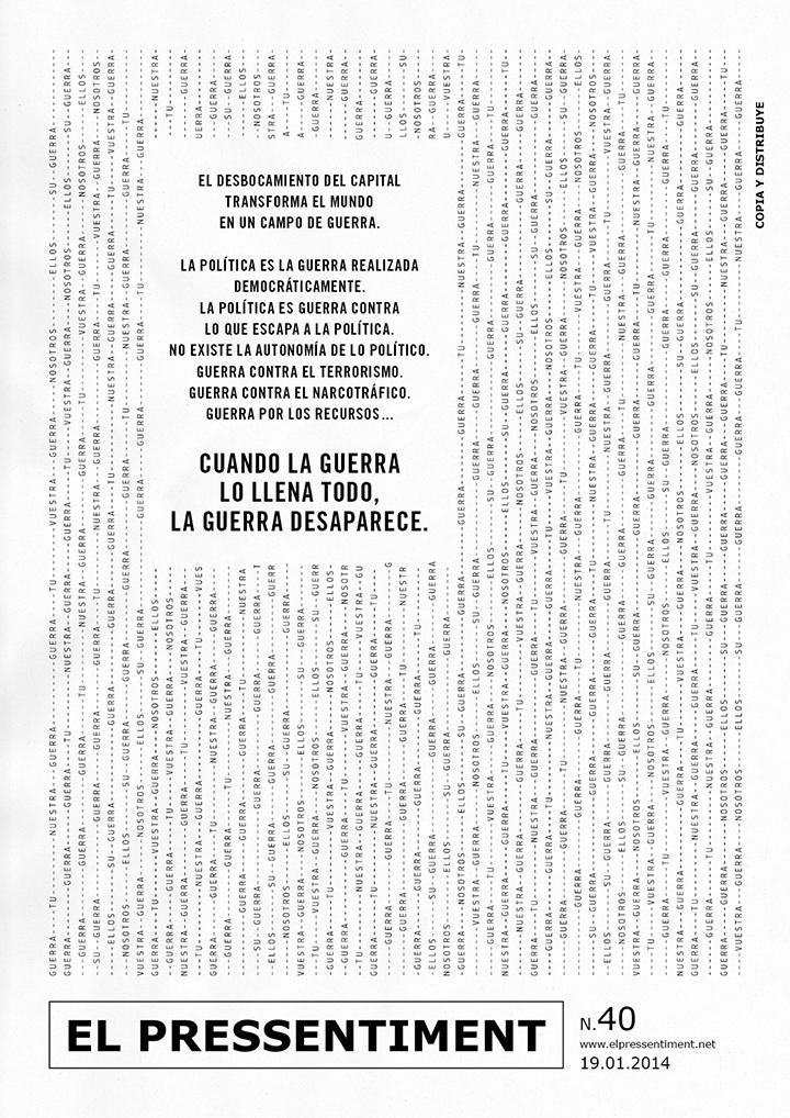 El Pressentiment. Pressentiment nº40.2014